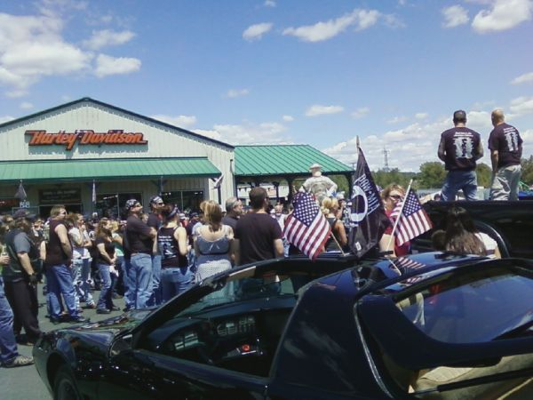 KITT attends the Billy Brockett ride at Pocono Mountain Harley