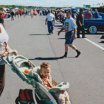Mommy and baby Ryan at car show