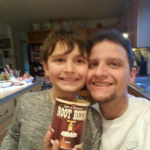 Ryan and Daddy make Root Beer