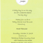 Ryan's baby shower invitation 2007