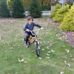 Ryan rides his bike freely