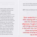 Ryan's letter to neighbor John
