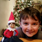 "Ryan and His Elf ""Lucky"""