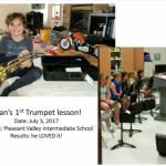 Ryan's 1st trumpet lesson
