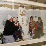 First snowman with Nana and family