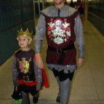 Daddy and Ryan as Knight and King